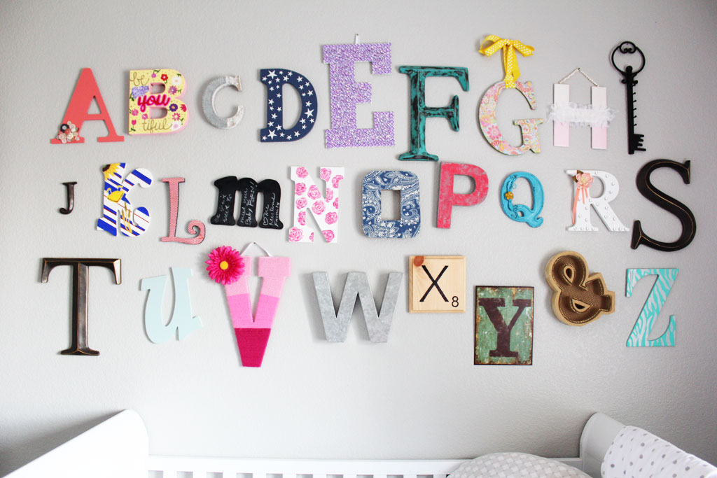 Nursery Alphabet Wall | www.amusingmj.com